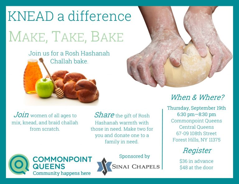 Challah baking event
