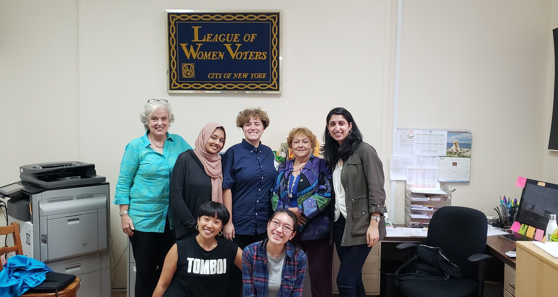 League of Women Voters Ladders for Leaders interns