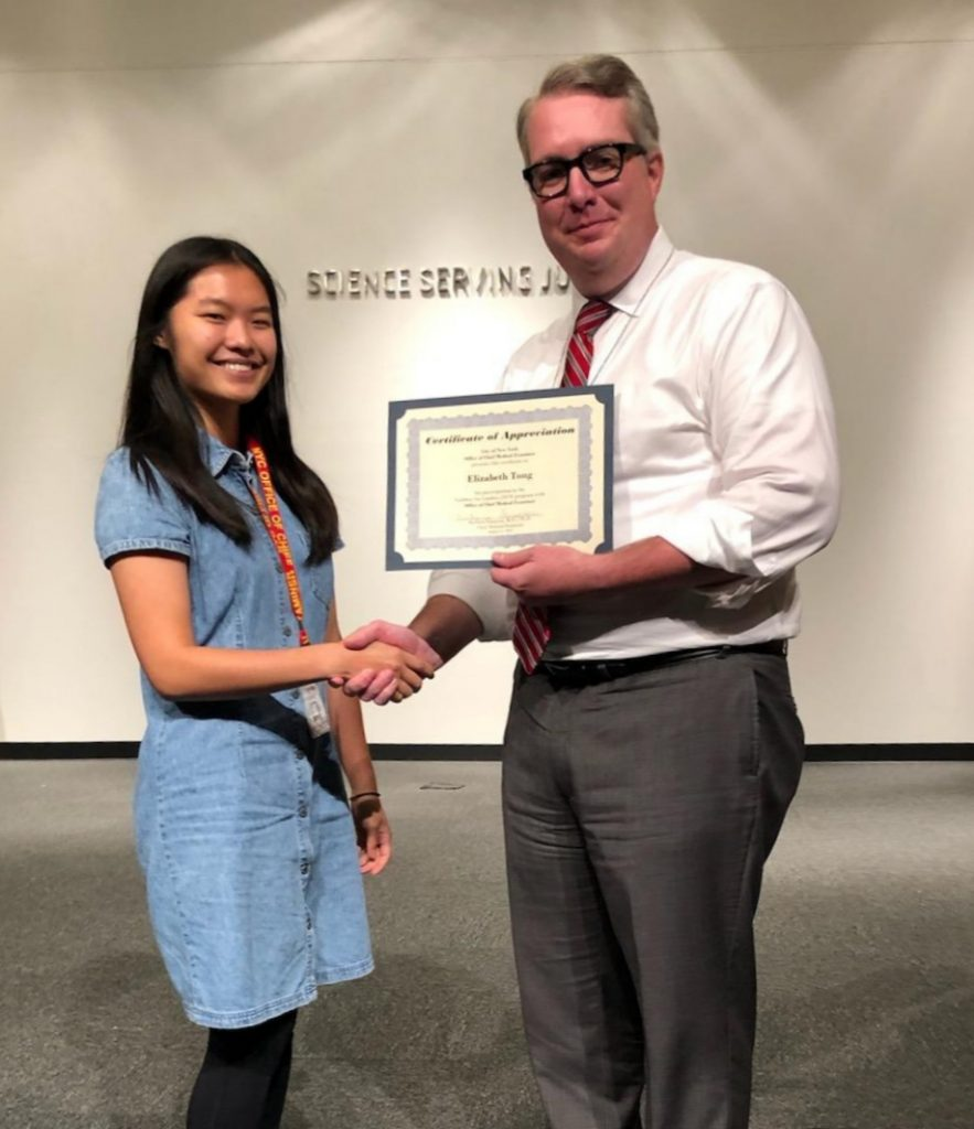 Elizabeth Tong Office of the Chief Medical Examiner ladders for leaders intern