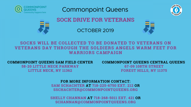 October collection sock drive for veterans