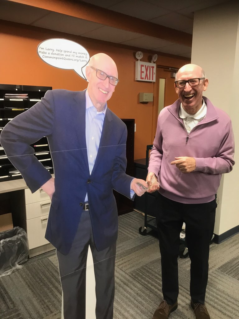 LARRY GOTTLIEB WITH LIFE SIZED LARRY