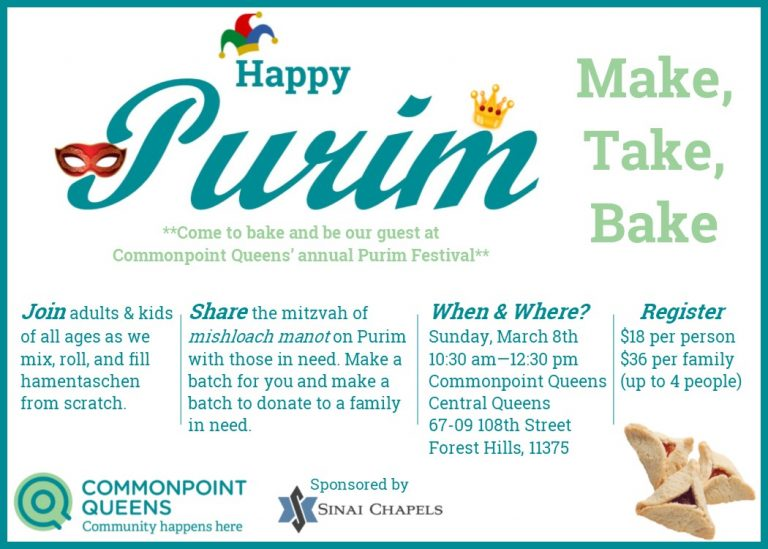 Hamentaschen Bake purim central queens updated