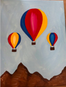 Hot Air Balloon Paint Project