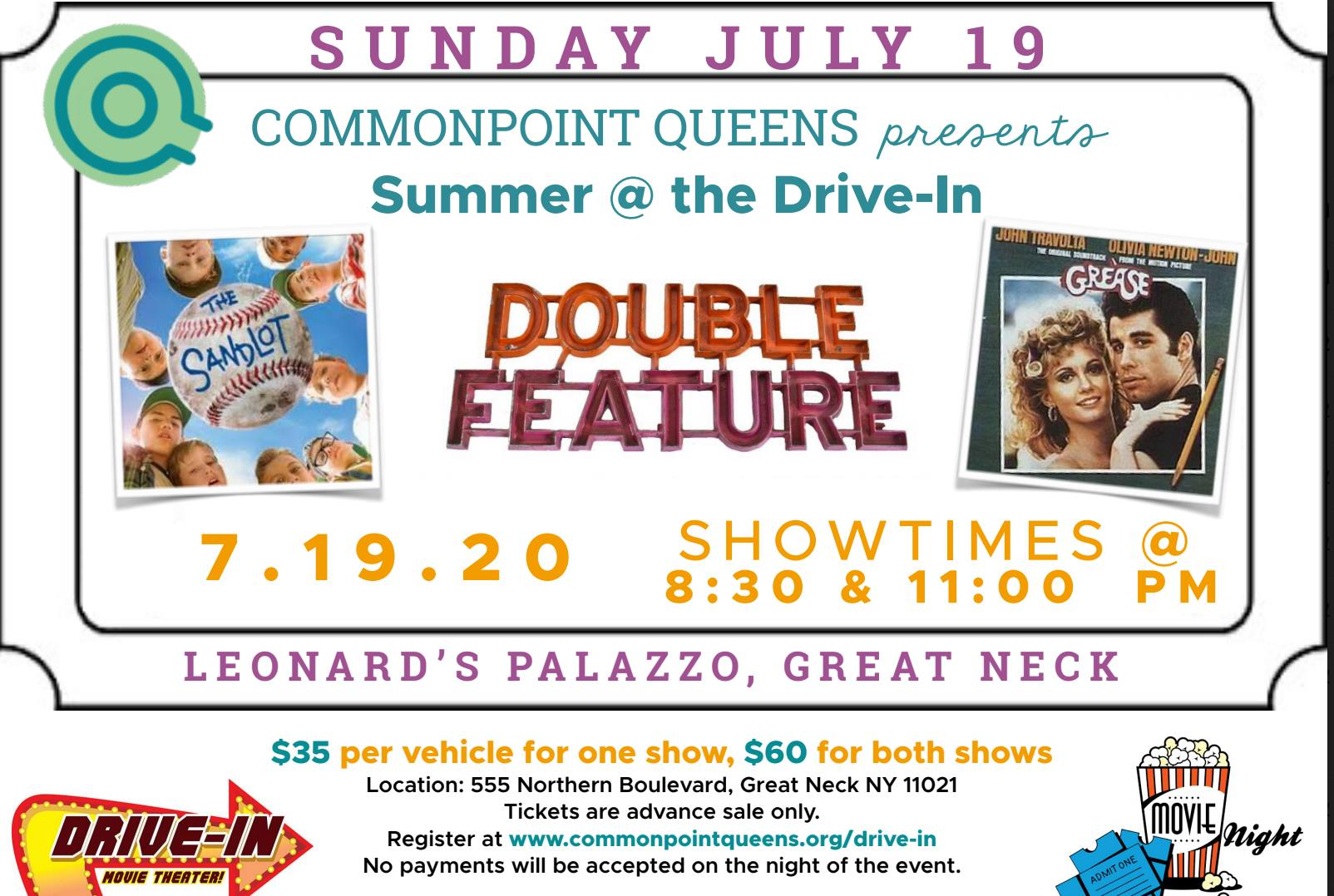 Flushing Bank Sponsors Commonpoint Queens' Drive-in Movie Fundraiser