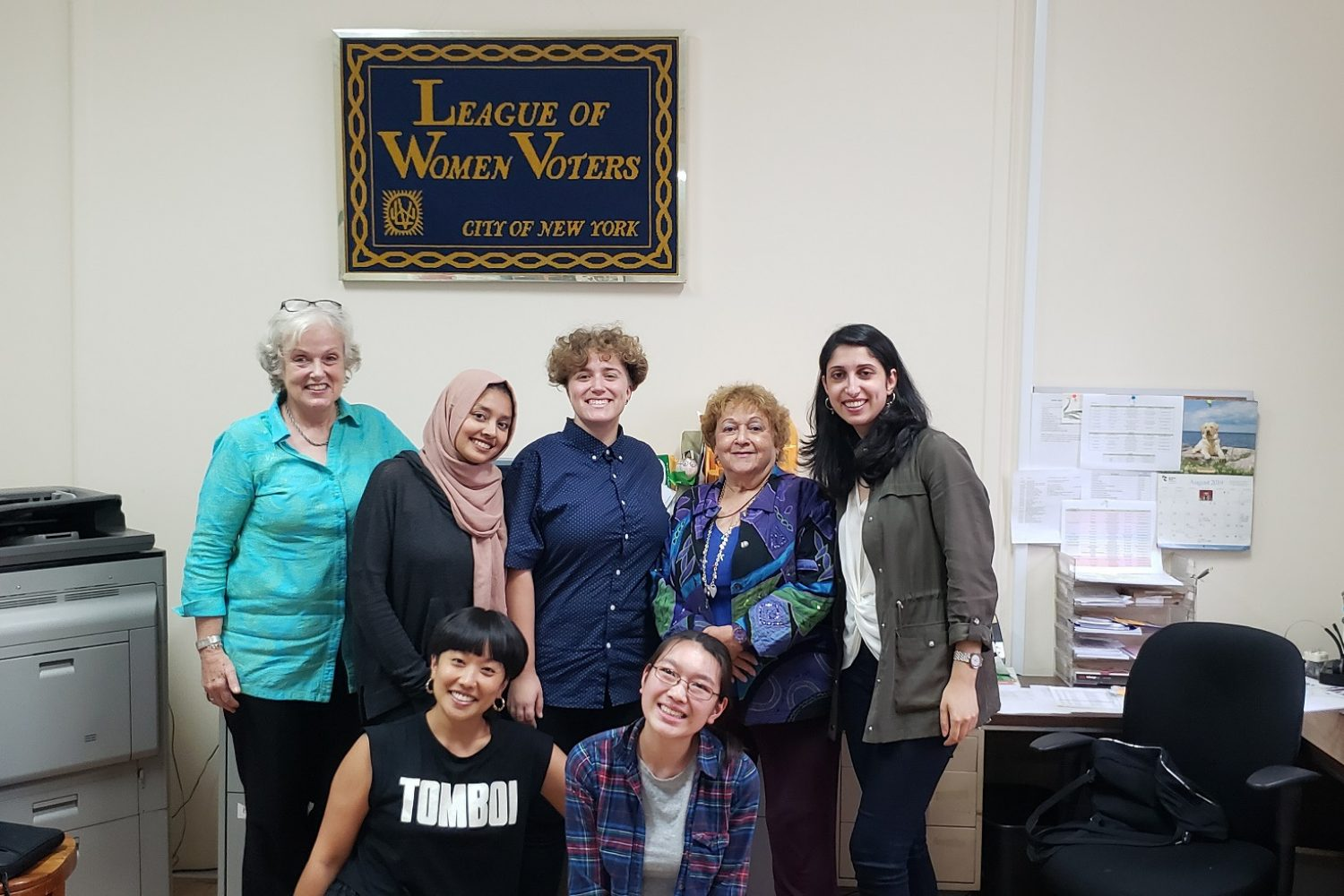 The League of Women Voters, Summer 2019